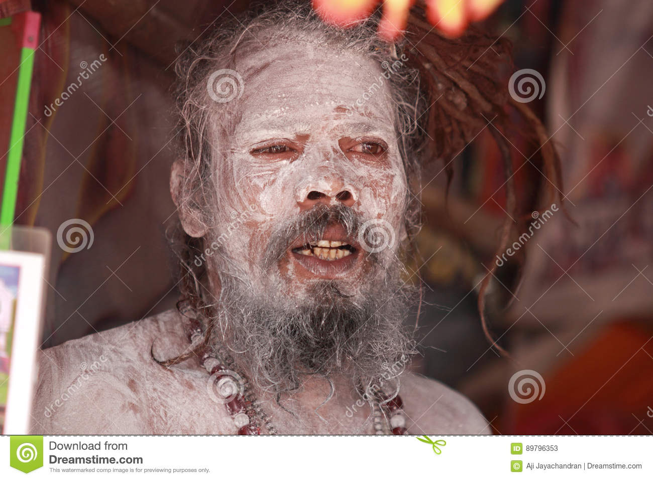 Arresting Sadhus Portrait Photography Religious Photography: Sadhu At Maha Kumbh Mela Editorial Stock Photo. Image Of