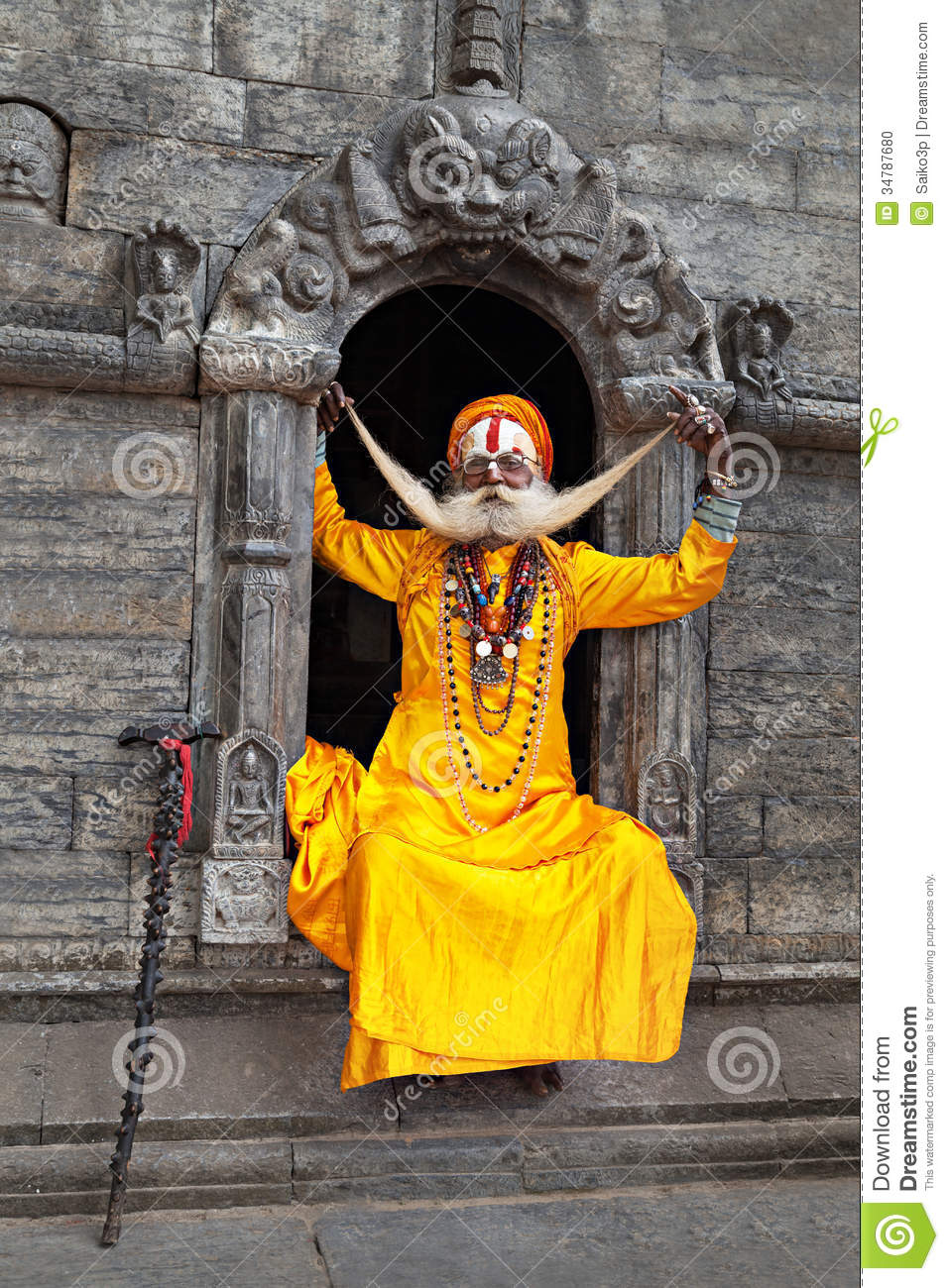 A Sadhu At Pashupatinath Temple Editorial Image Image