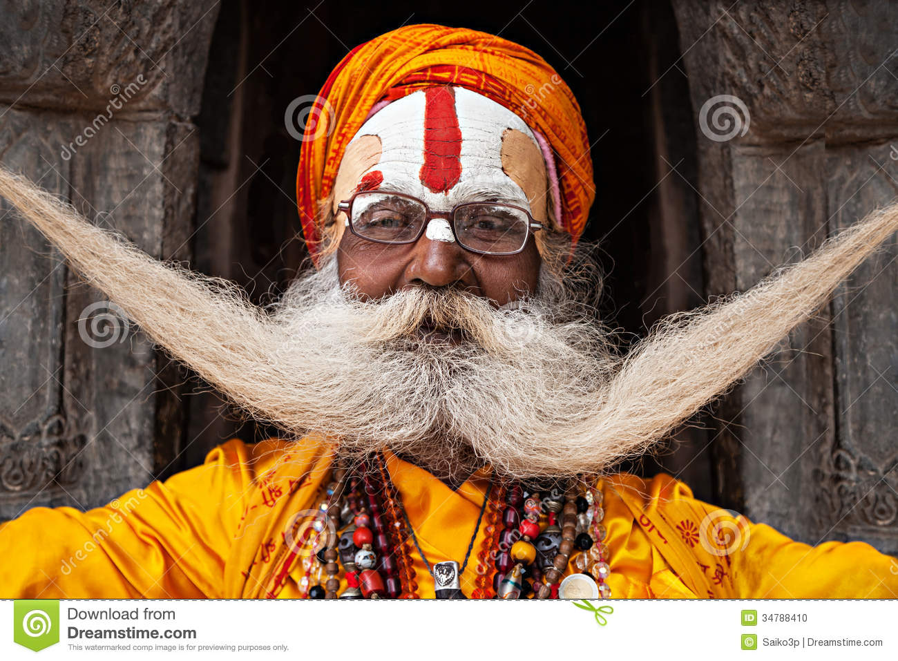 Sadhu At Pashupatinath Temple Editorial Image Image