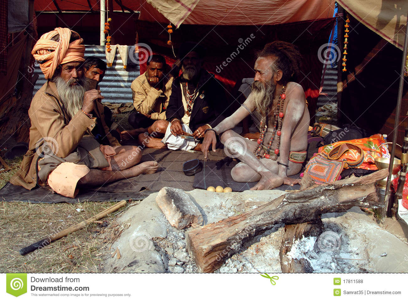 Sadhus Of India http://www.dreamstime.com/royalty-free-stock-photos-sadhus-holy-men-india-image17811588