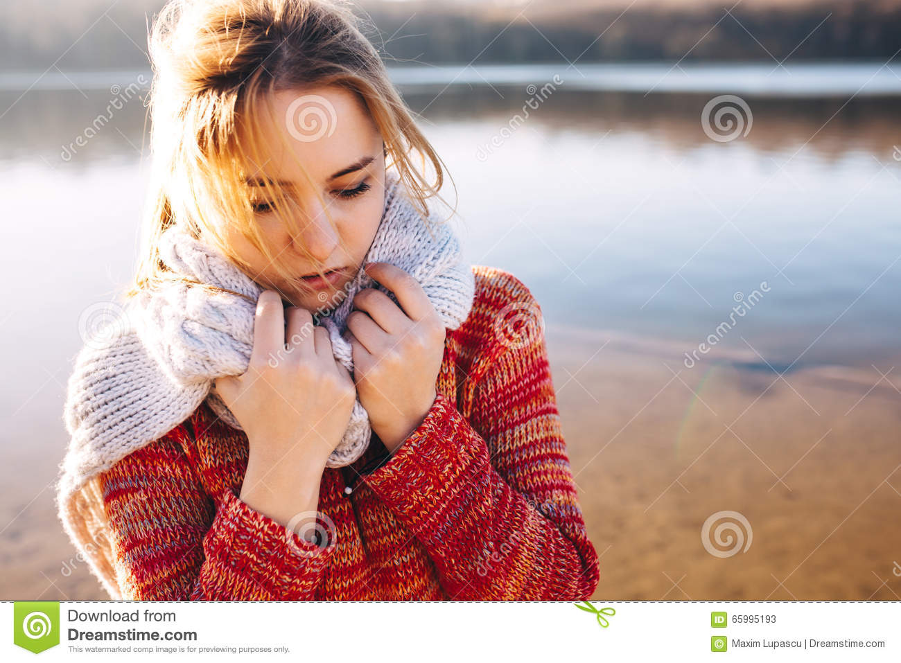 Sadness. Loneliness. Sad Hipster Girl Stock Image - Image ...