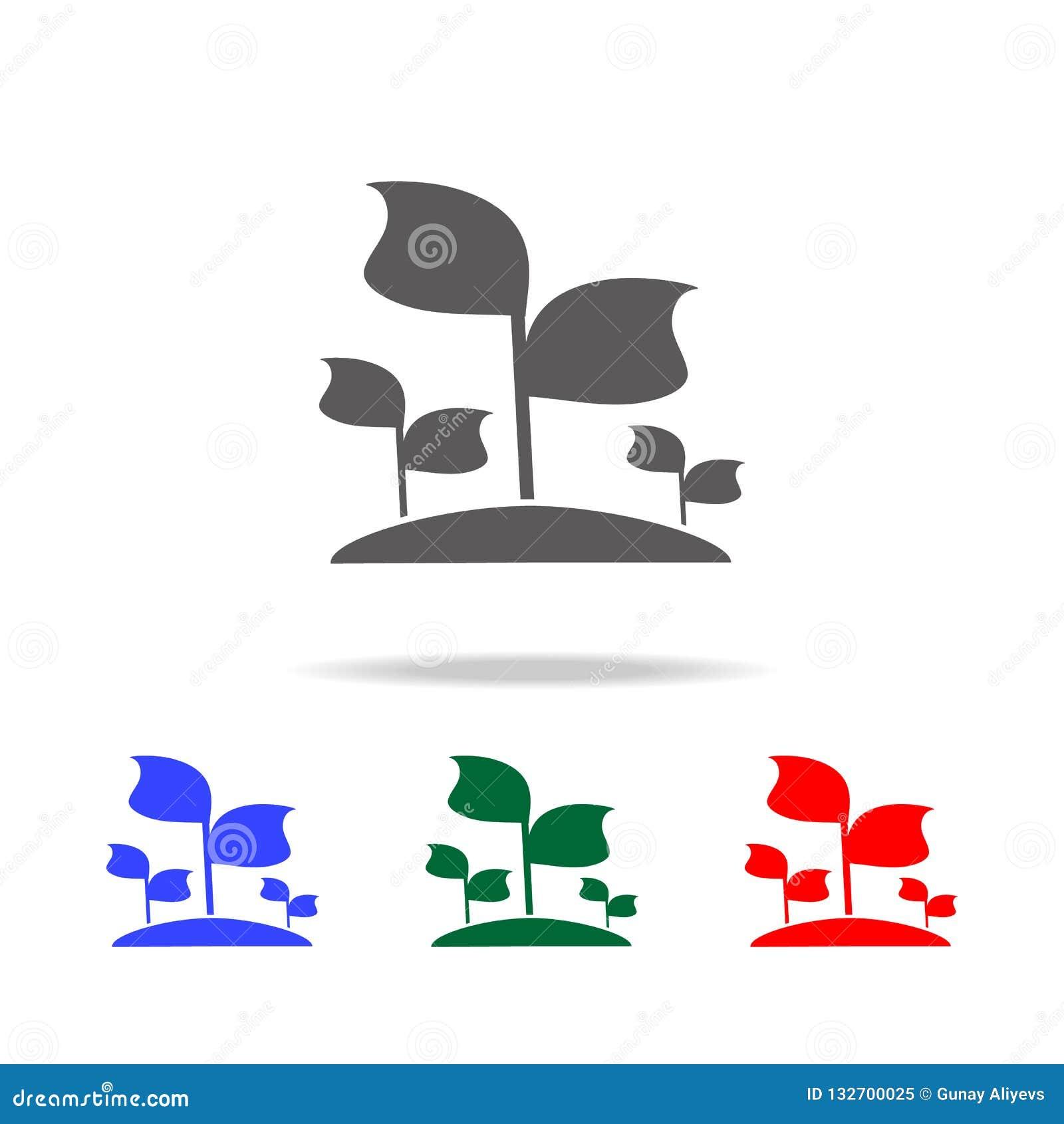 Sadzonkowa ikona Elementy ogród w wielo- barwionych ikonach Premii ilości graficznego projekta ikona Prosta ikona dla stron inter