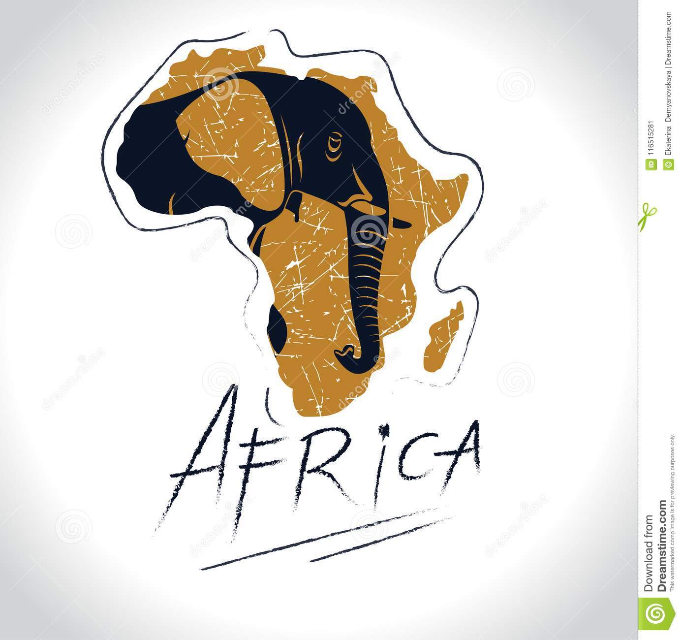 Africa and Safari with the elephant logo 3