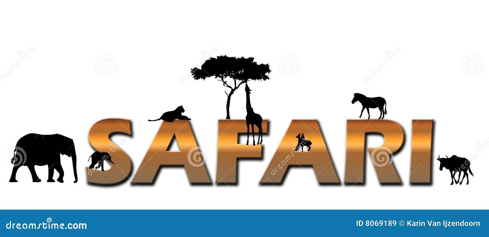 safari africain de logo illustration stock illustration du animaux 8069189. Black Bedroom Furniture Sets. Home Design Ideas