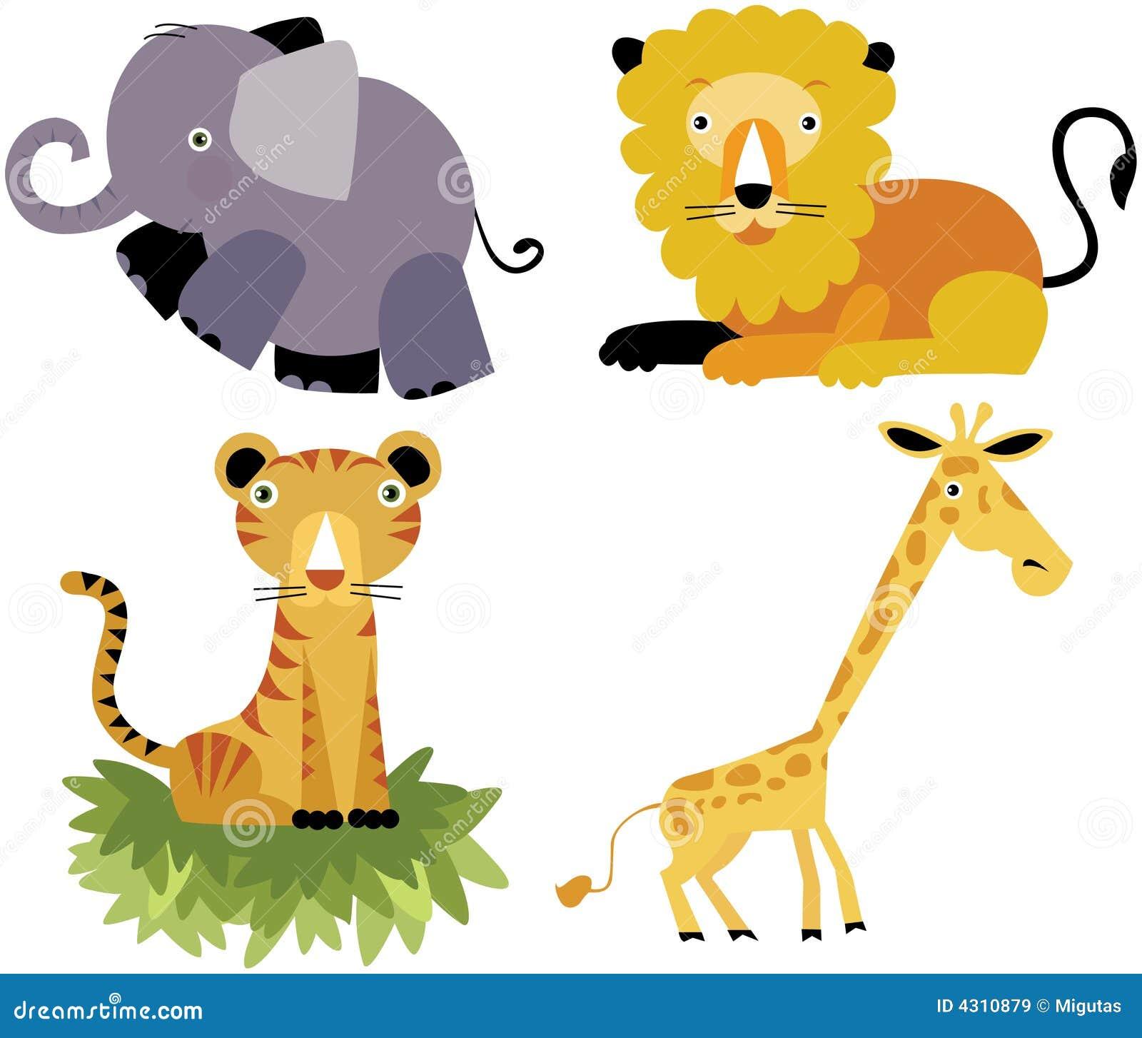 safari cartoon animal vector set royalty free stock images image