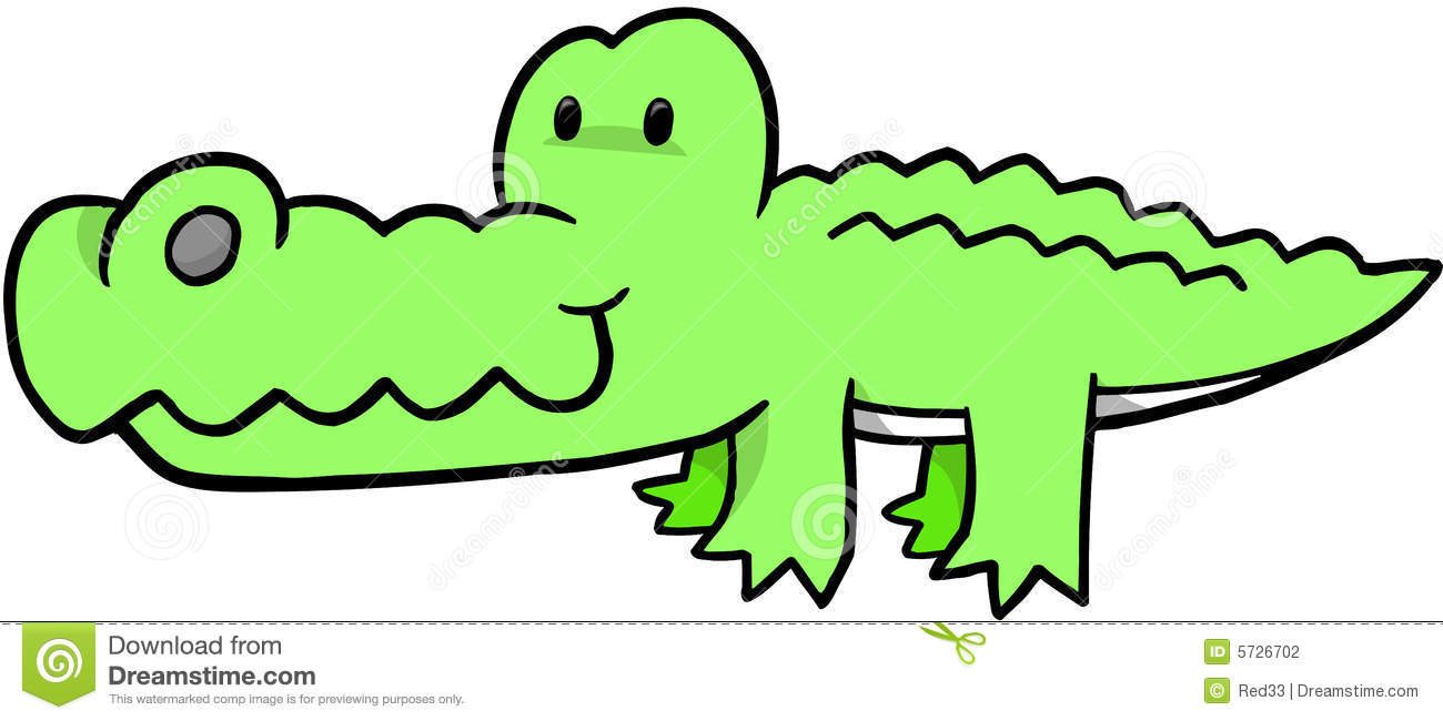 Safari Crocodile Vector Stock Photography - Image: 5726702