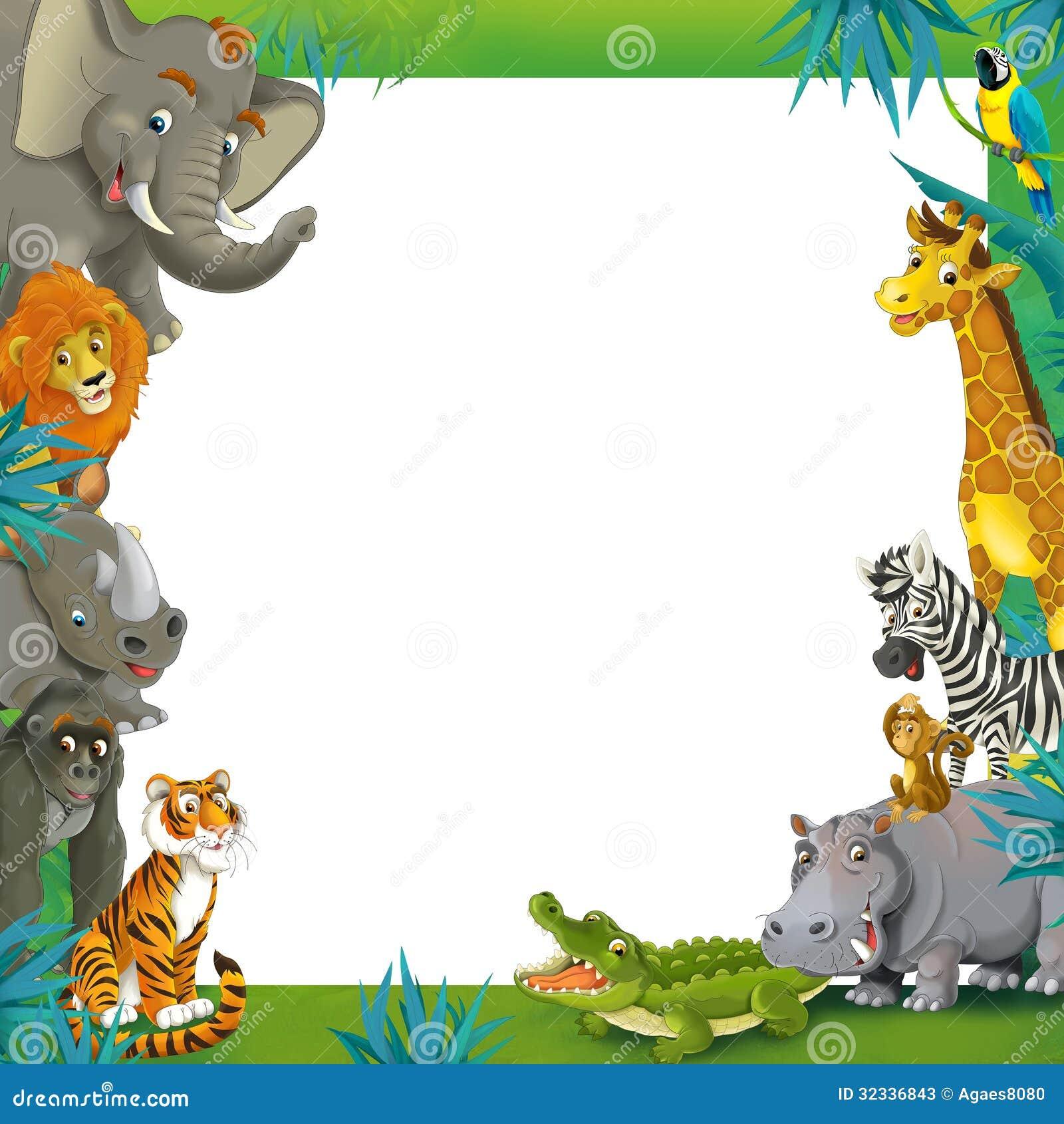 safari de bande dessin u00e9e jungle encadrez le calibre de All Baby Animals Clip Art Vintage Baby Animals Clip Art