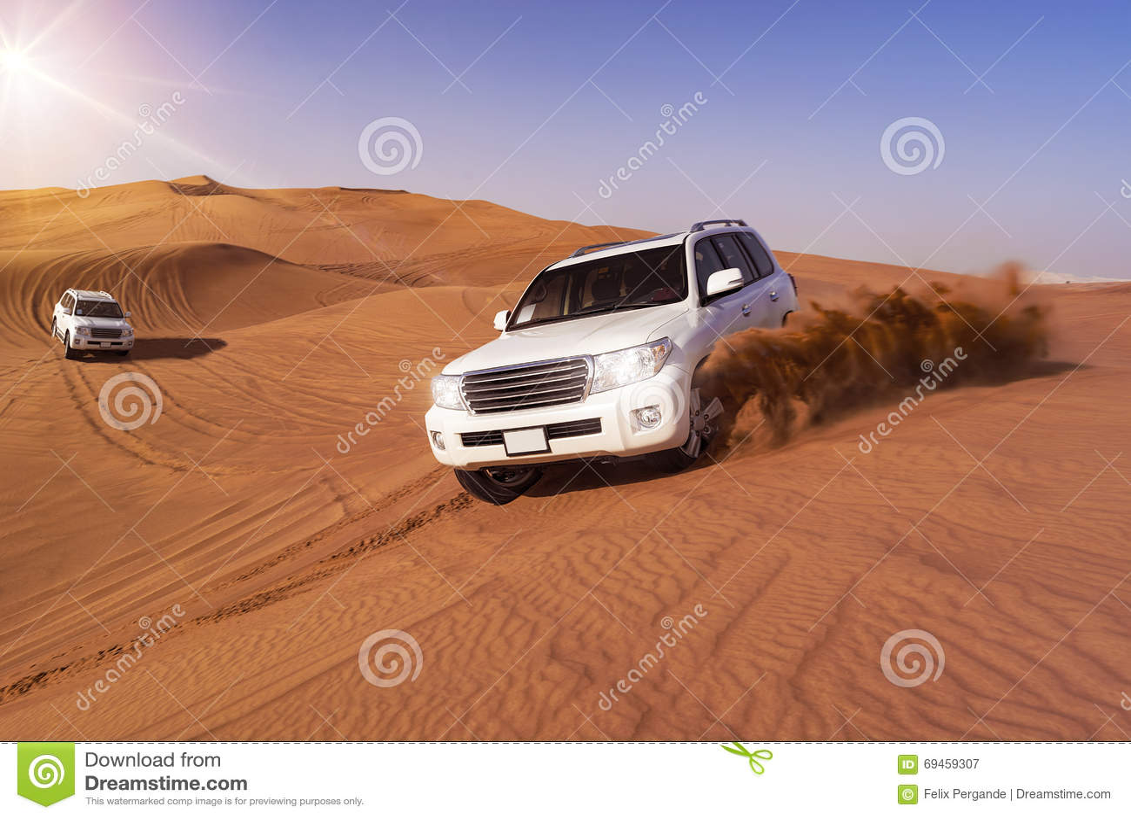 Safari del deserto con SUVs