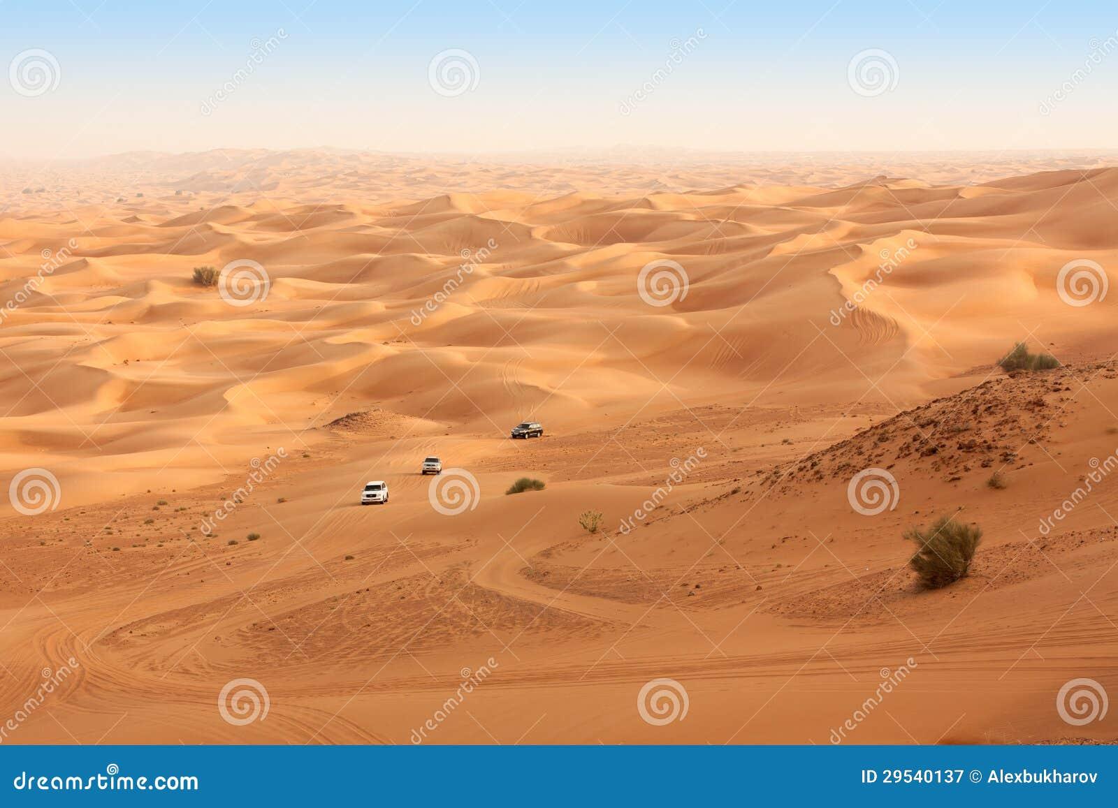 Safari do deserto perto de Dubai. UAE