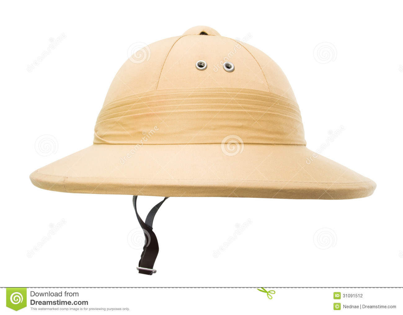 5c6ff5d13 Safari Hat Isolated On The White Stock Photo - Image of brown ...