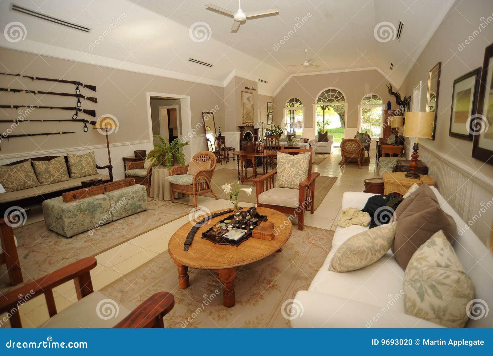 Safari lodge interior stock photo image of decoration 9693020 - Casas interiores decoracion ...
