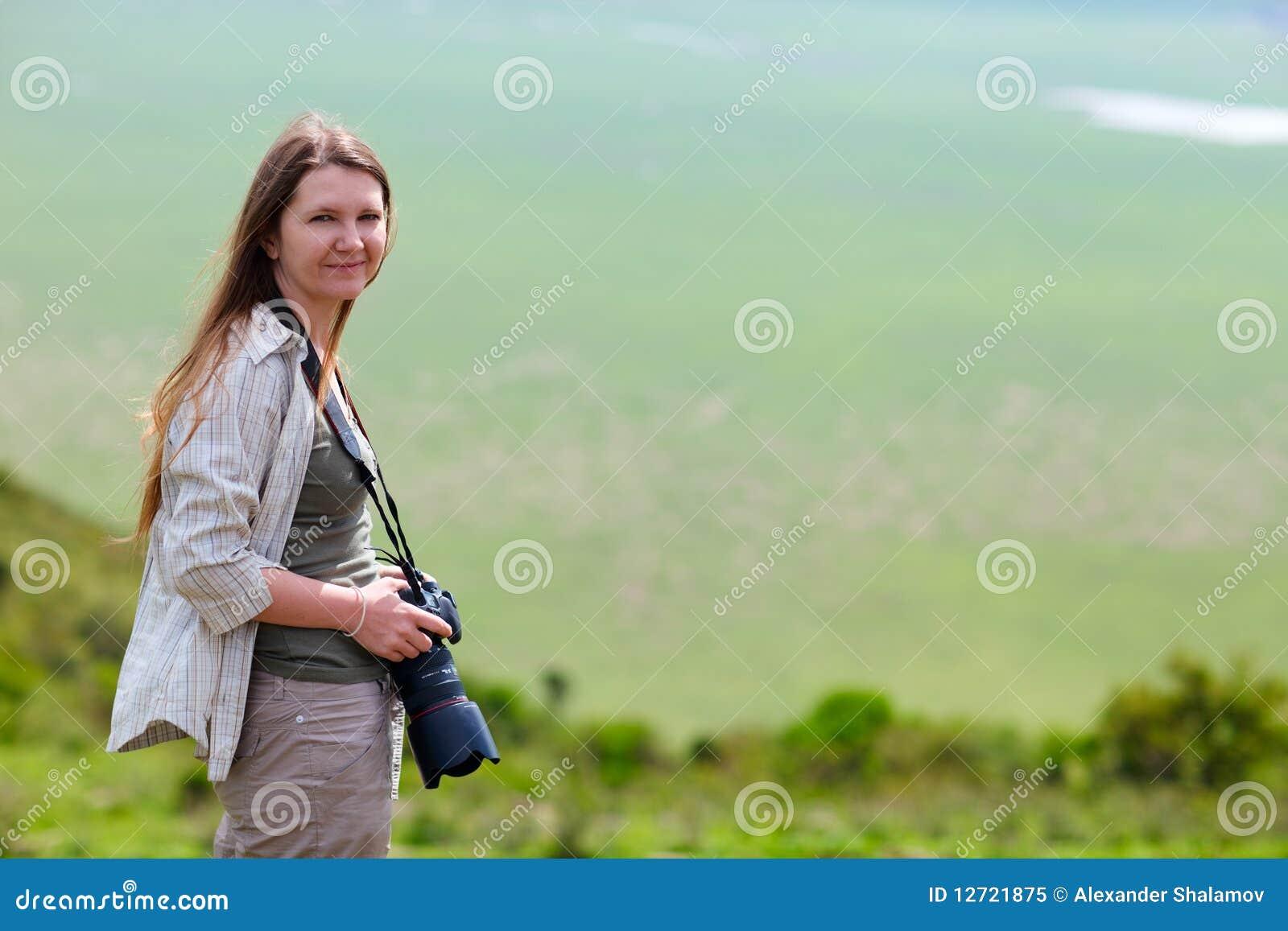 Safari Vacation Stock Image. Image Of Person, Female