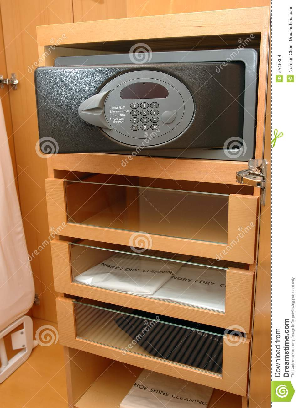 Safe box in closet stock photo  Image of safe, number - 5546804
