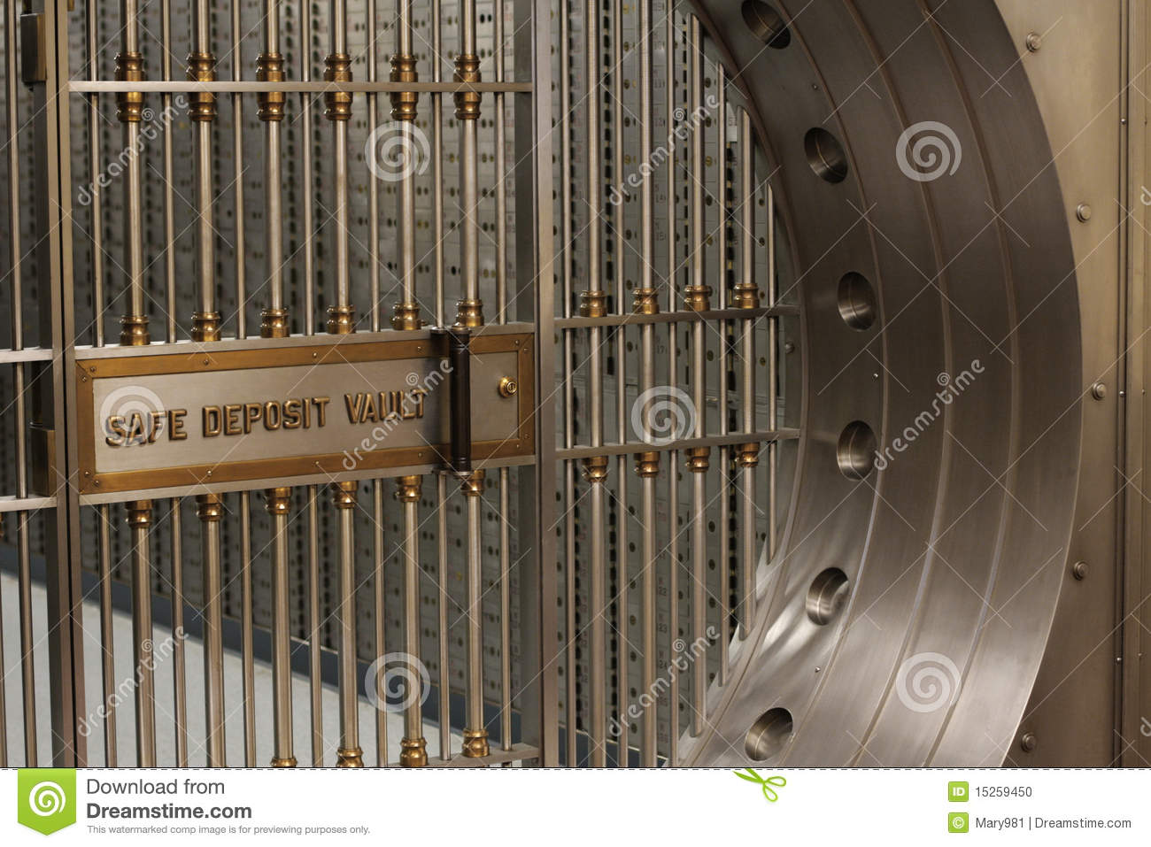 Safe Deposit Vault Stock Photo Image 15259450