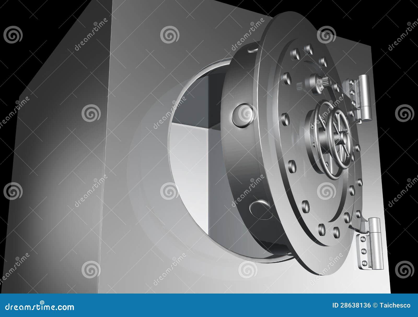 Safe door is little open stock illustration  Illustration of