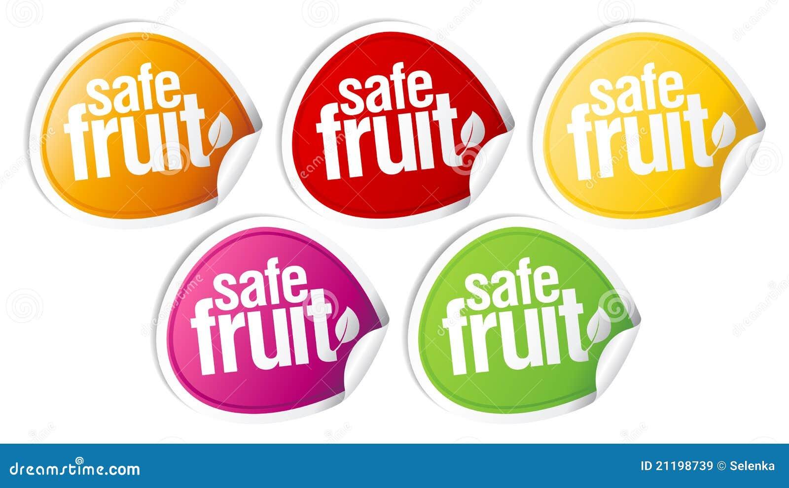Safe fruit stickers.