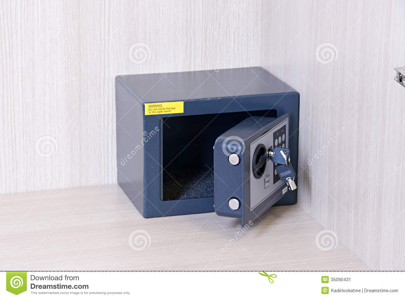 Safe Key Lock Savings Control Panel Security Stock Image