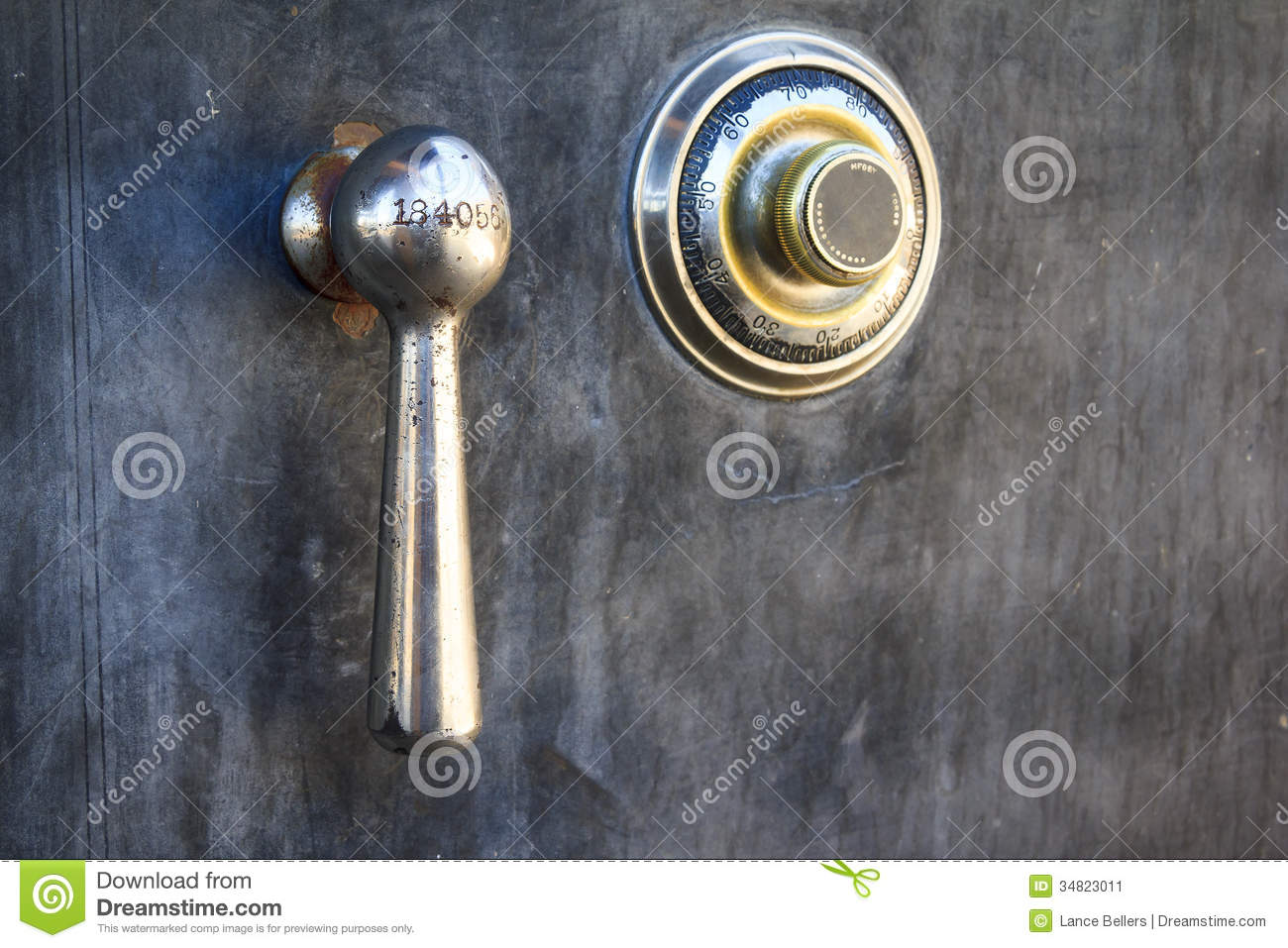 Safe Lock Stock Image Image 34823011