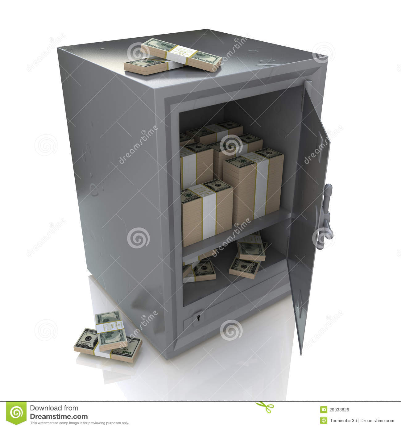 Safe And Money Royalty Free Stock Image Image 29933826