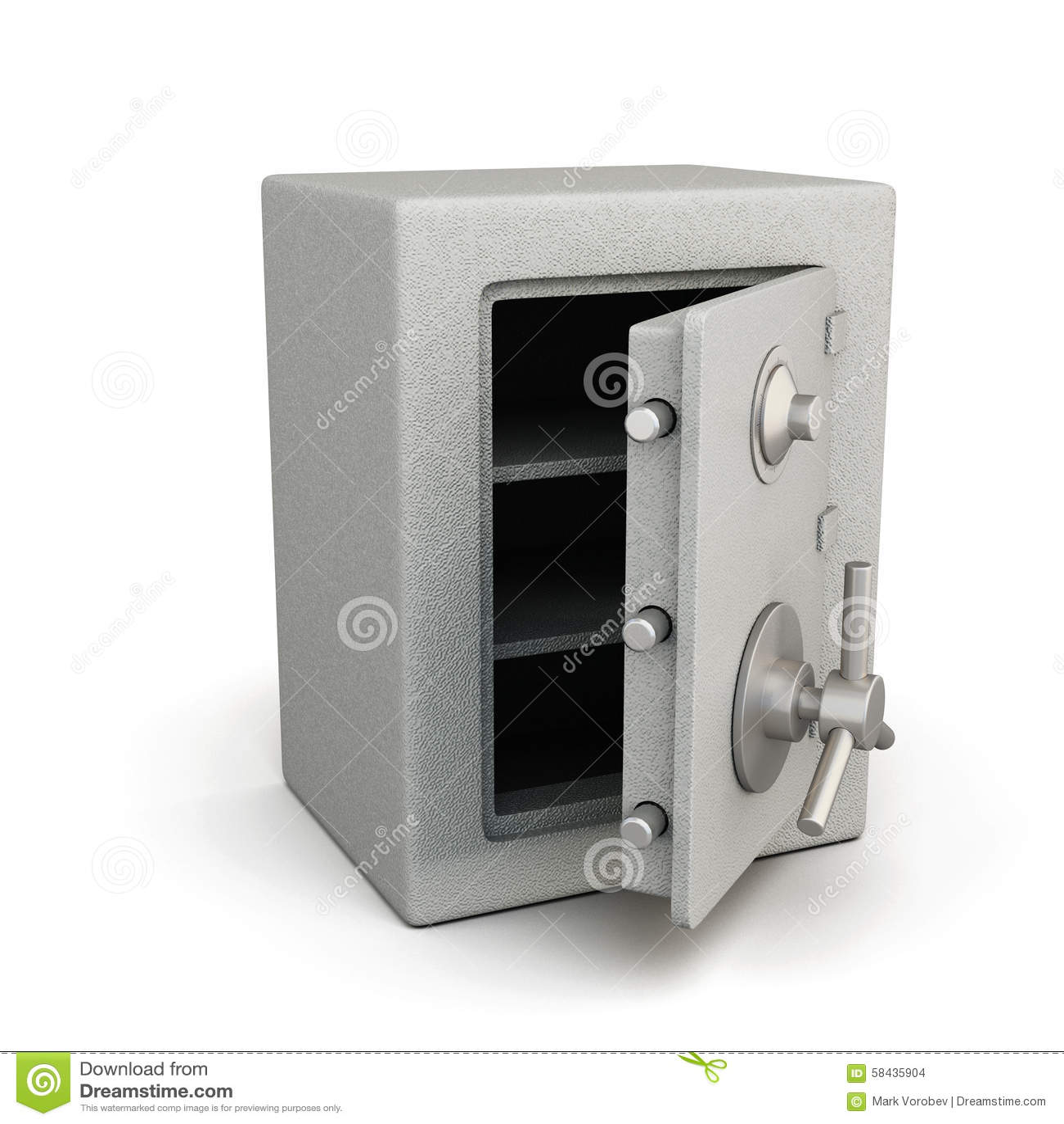 Open Door Of Safe Box Stock Photography - Image: 12667632