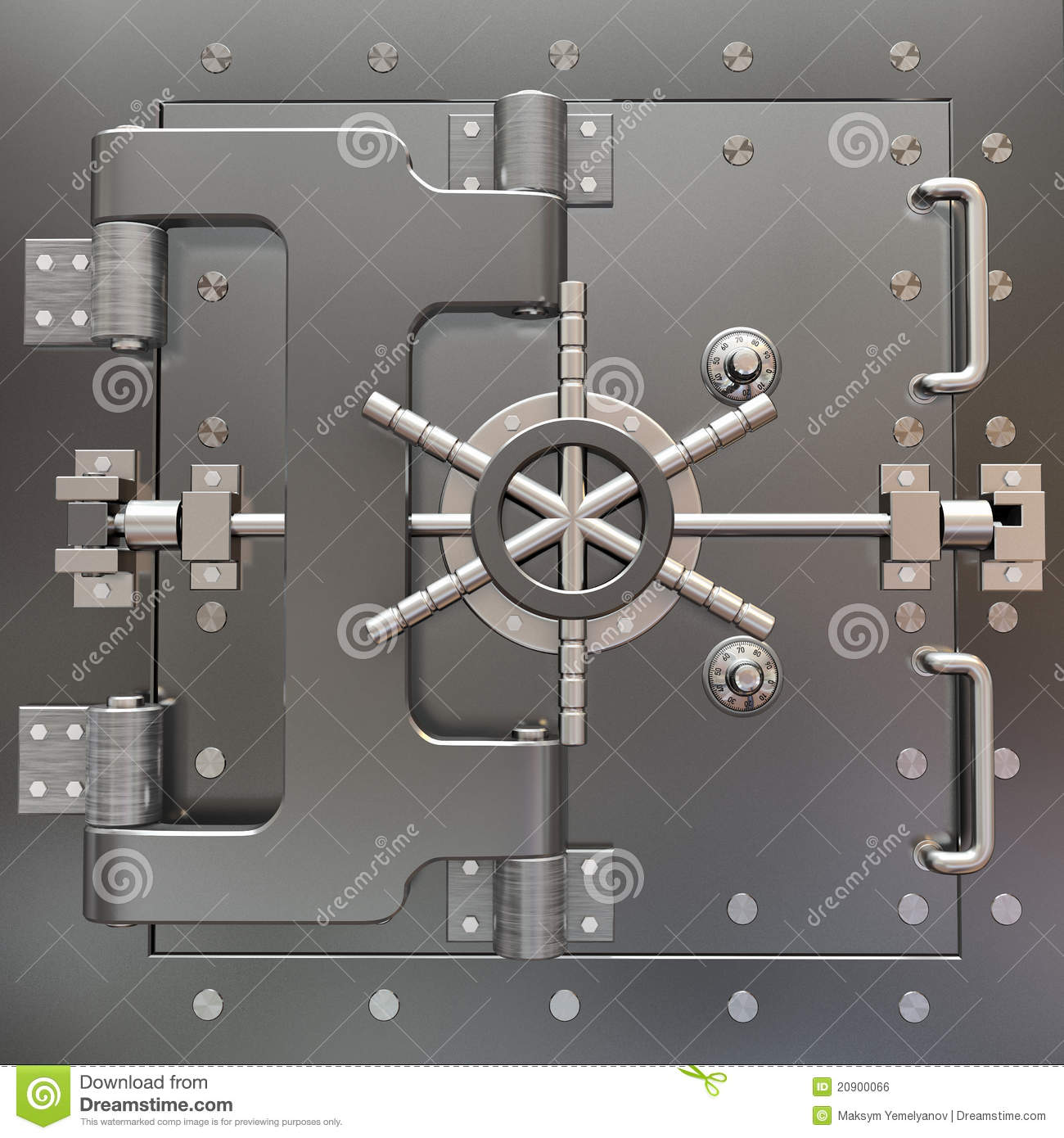 Bank Protection Drawing : Safe in stainless steel bank vault royalty free stock