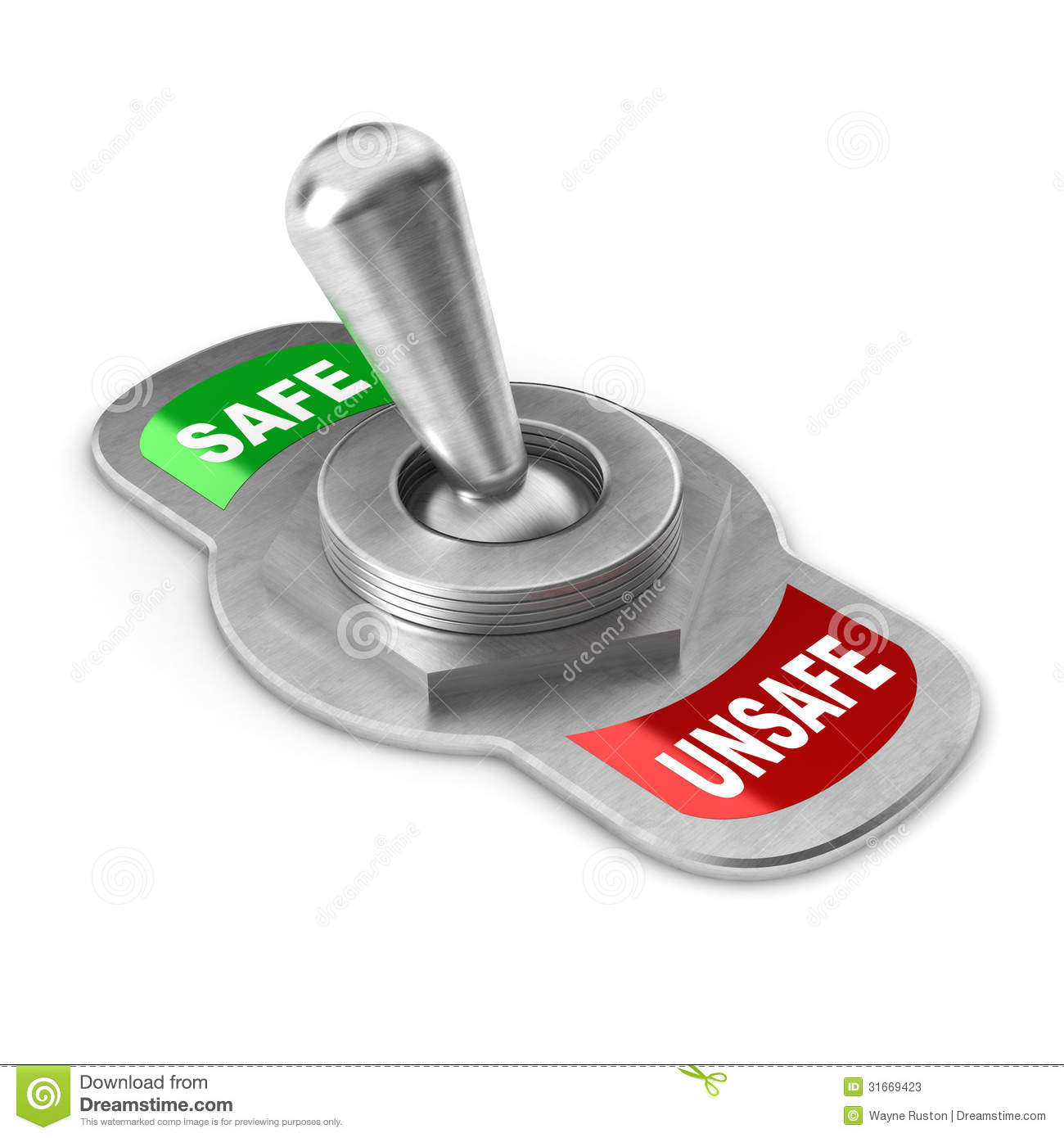 Safe Vs Unsafe Switch Stock Photos - Image: 31669423