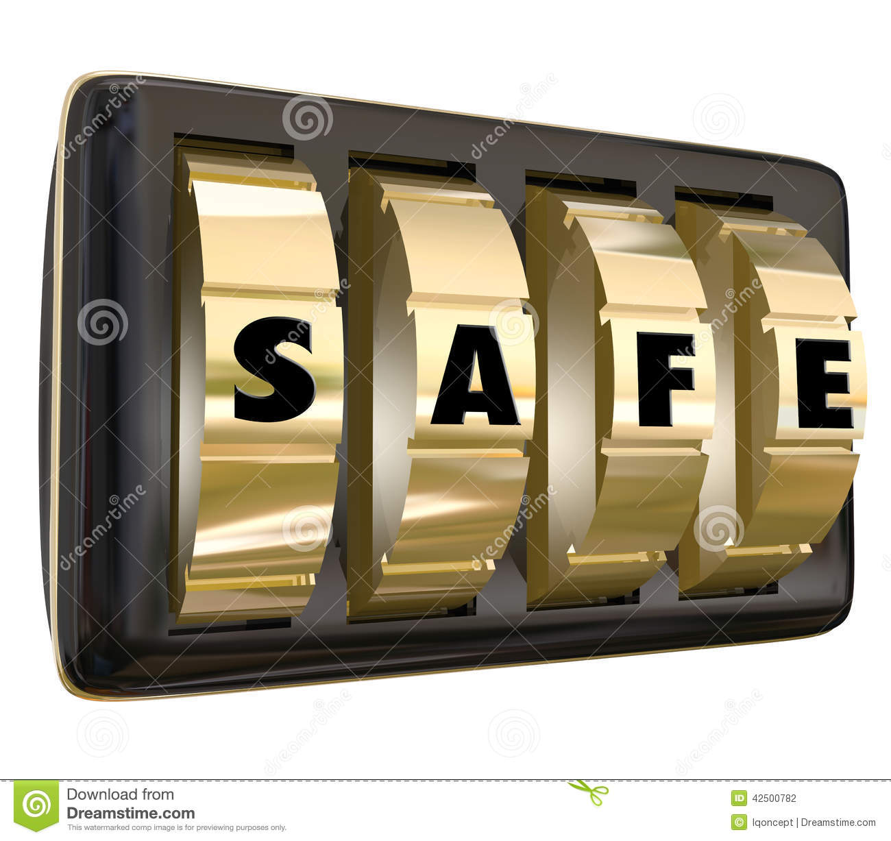 Safe Word Lock Dials Secret Security Safety Secured Password Acc Stock Illustration - Image ...