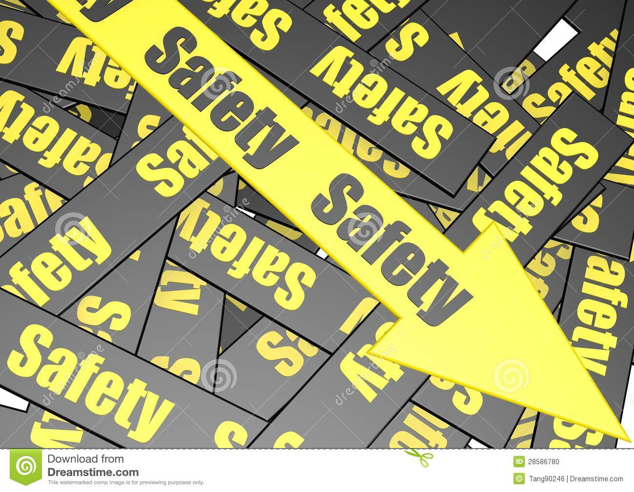 safety banner stock photo  image: 28586780