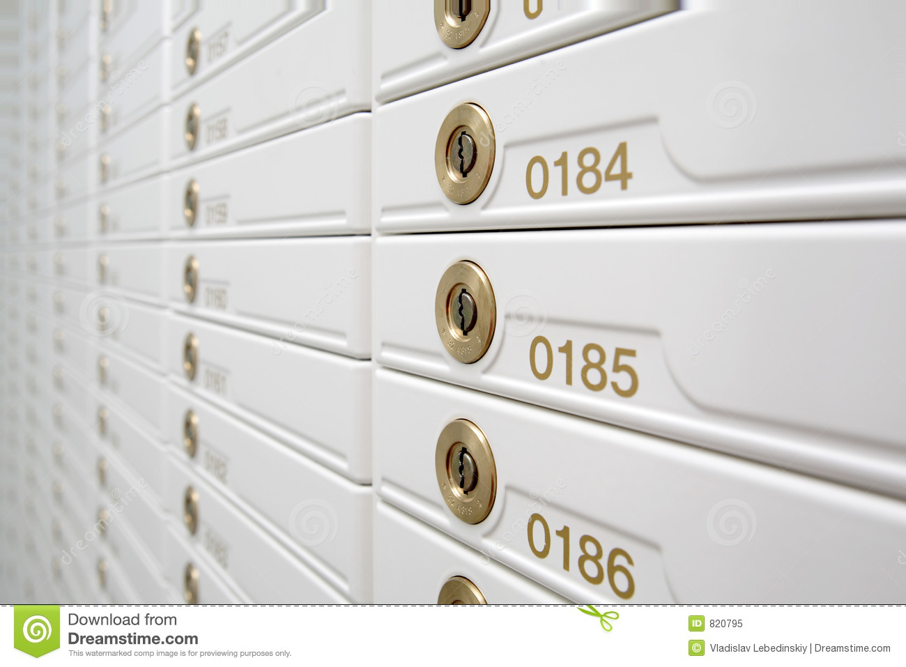Download Safety Boxes. stock image. Image of wite, designated, numbers - 820795