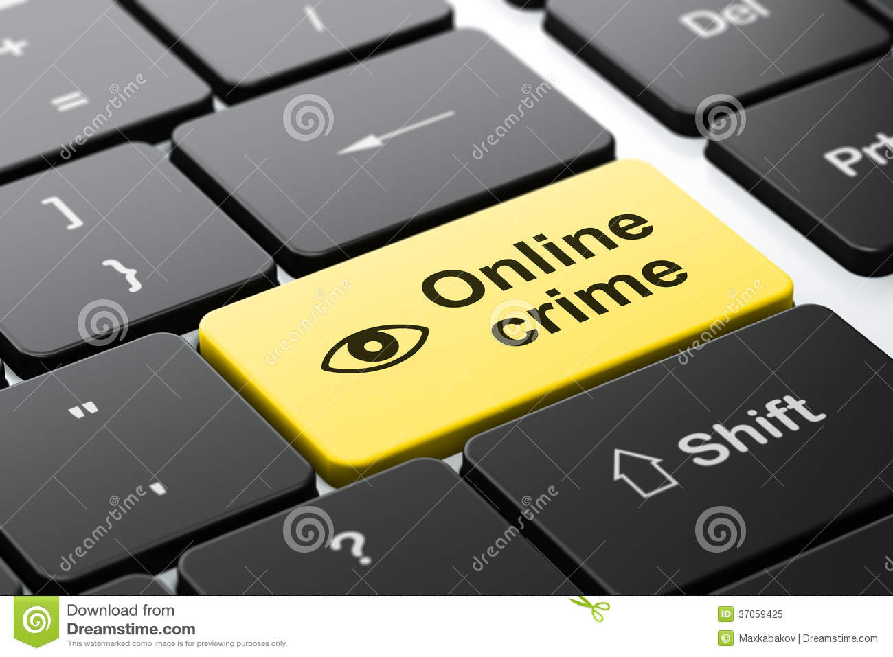 Safety concept eye and online crime on computer royalty for Online rendering tool