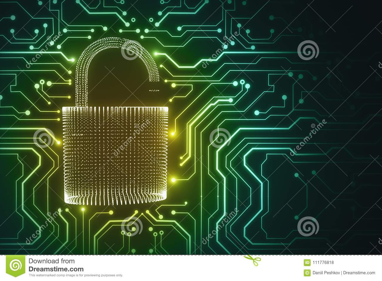 Safety and cyberspace concept