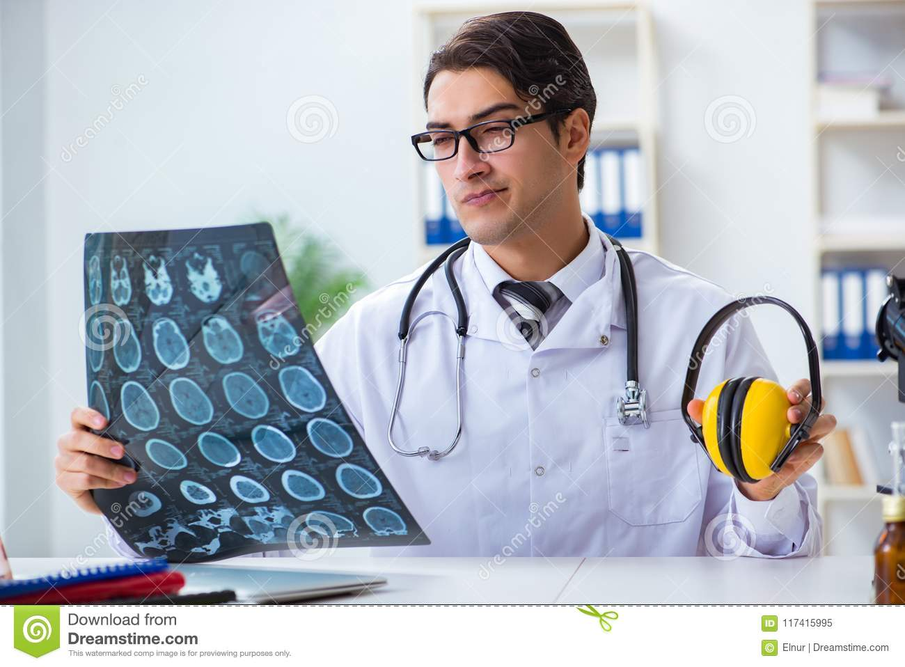 The safety doctor advising about noise cancelling headphones