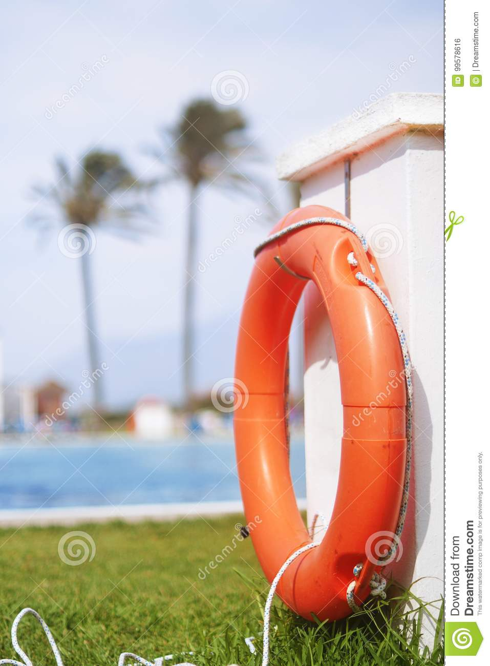 Safety Equipment, Red Lifebuoy Pool Ring Float, Ring ...