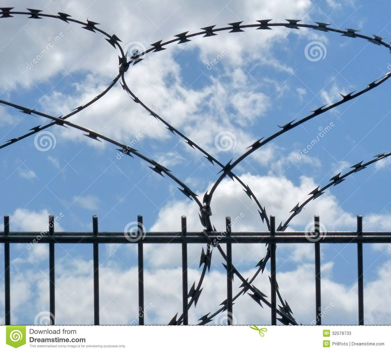 Safety fence and sky stock photos image
