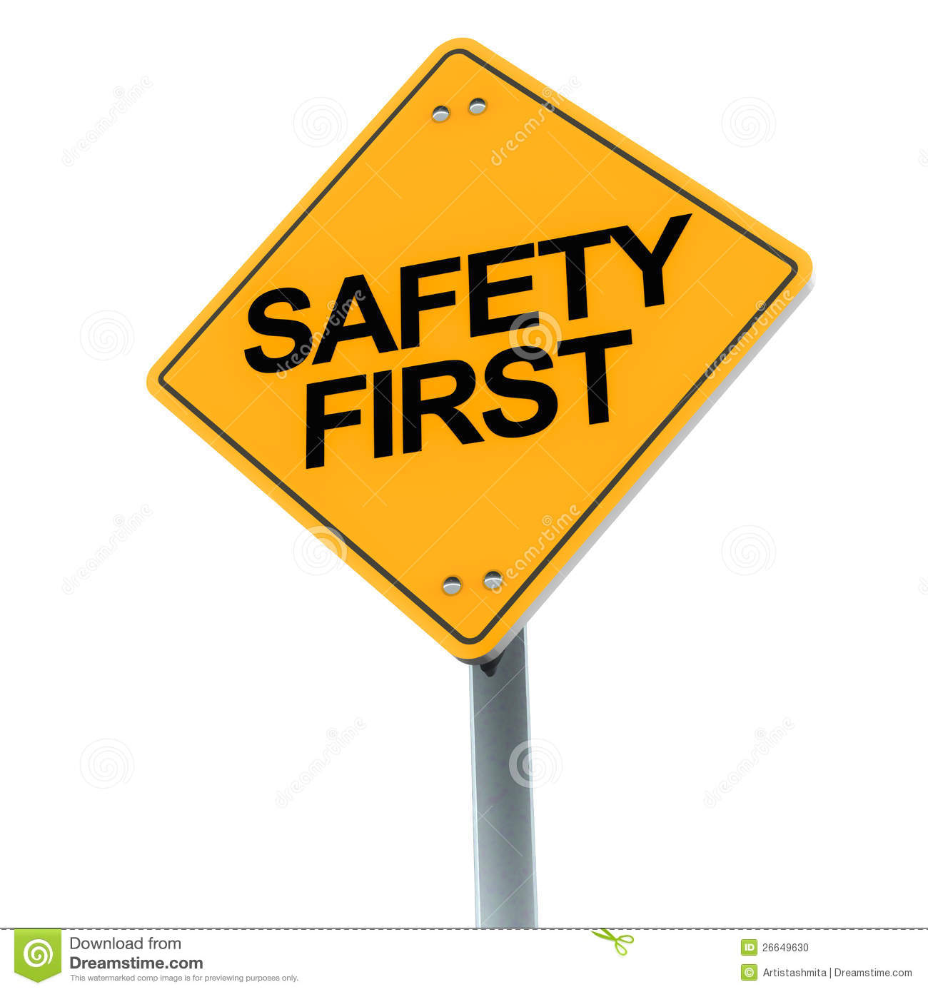 Safety First Stock Photo Image 26649630