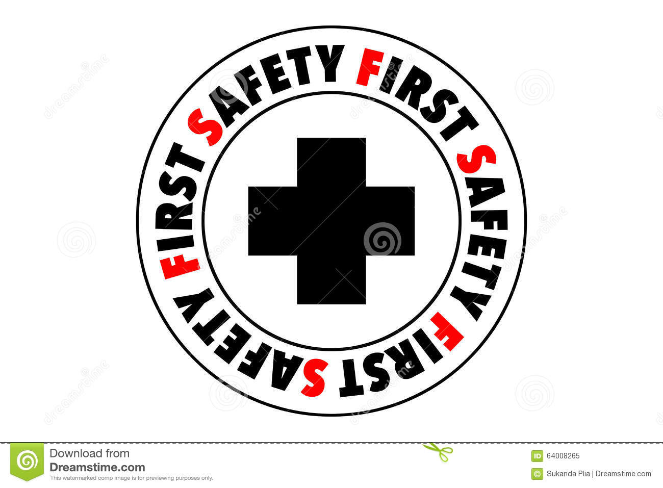 Safety First Symbol Stock Illustration Illustration Of Concept