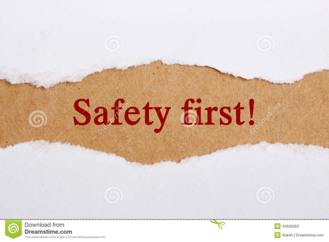essay on safety first