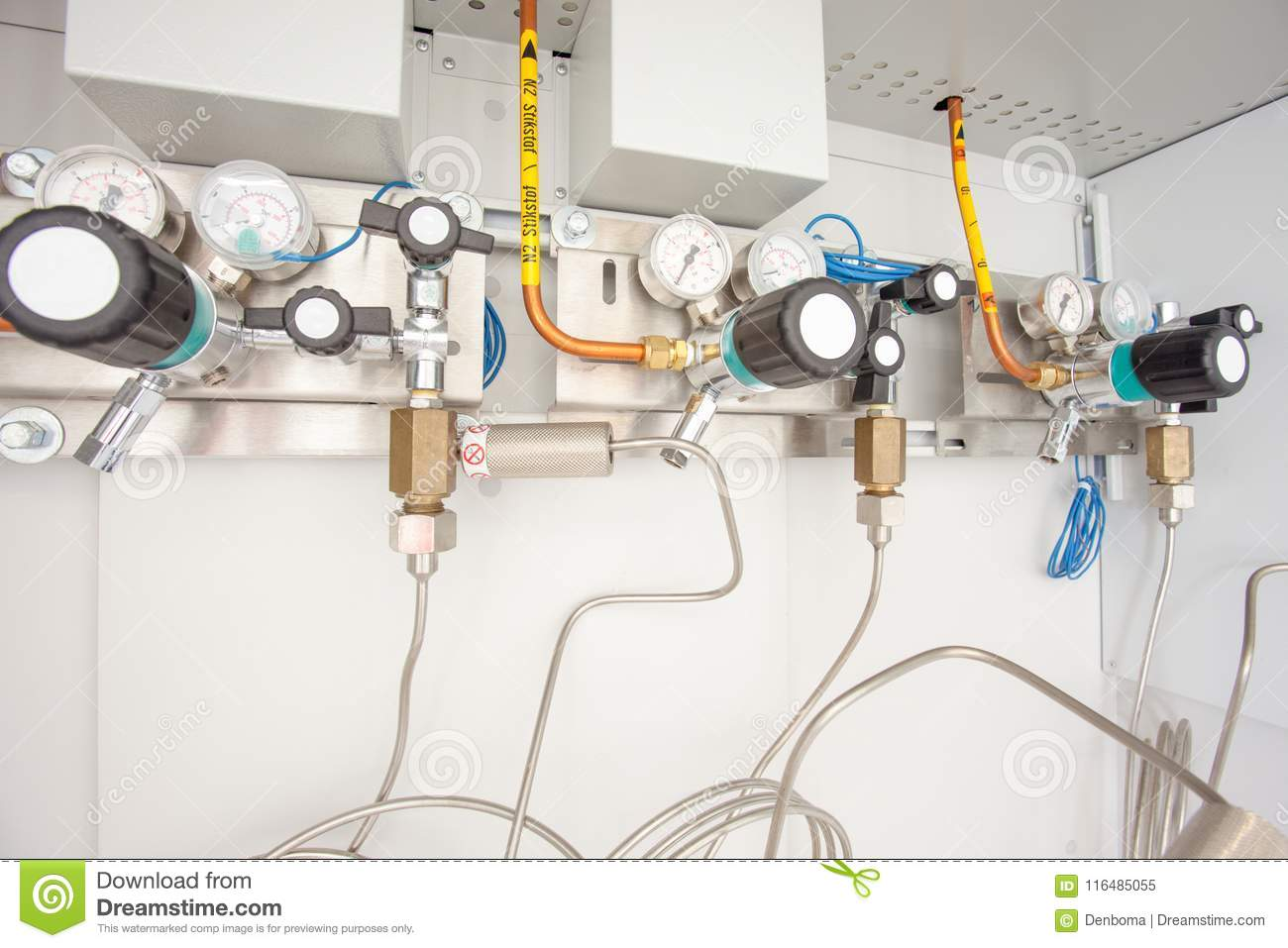 Cupboard For Industrial Gas Bottles Stock Image Image Of