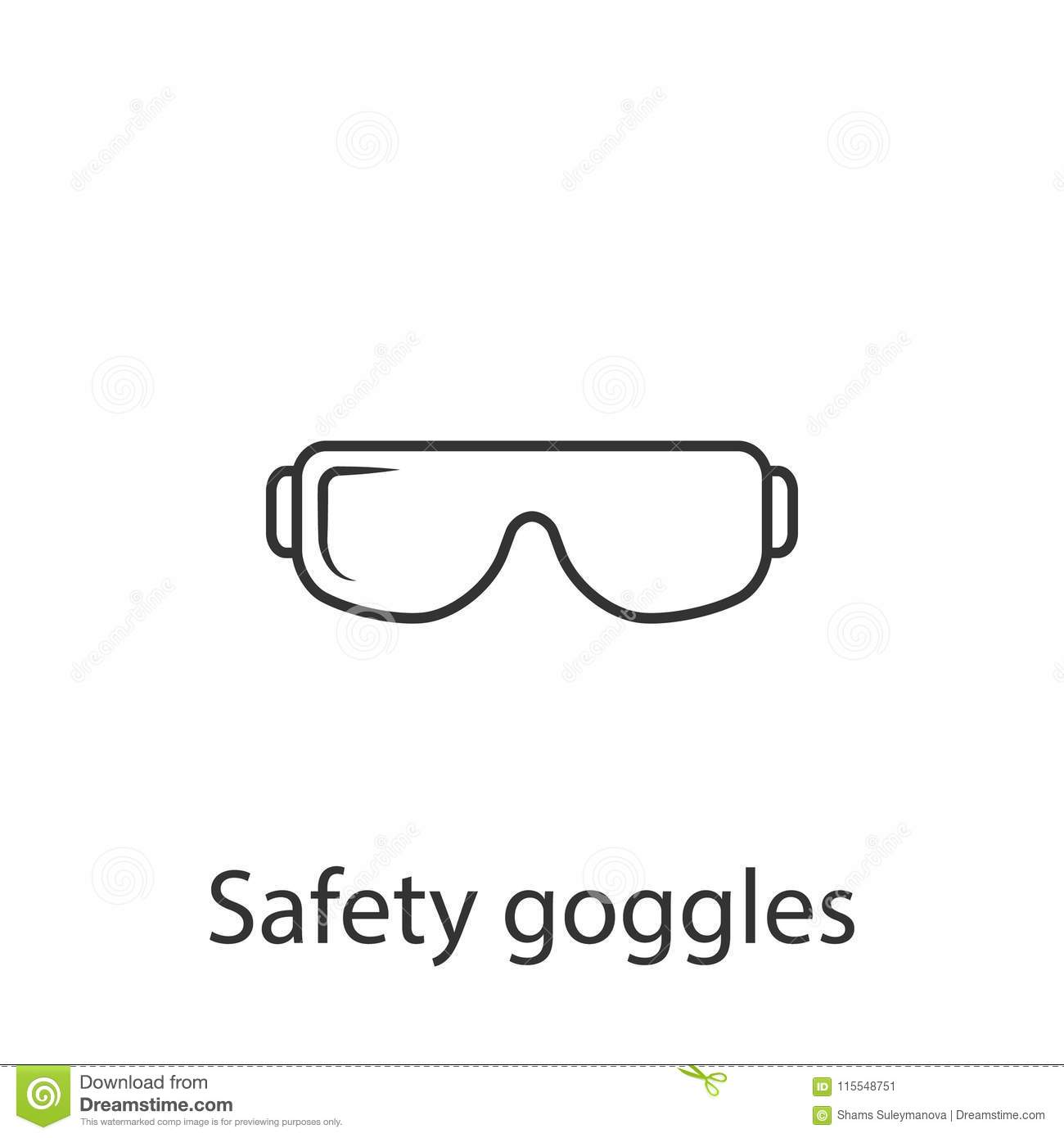 safety glasses icon simple element illustration safety glasses