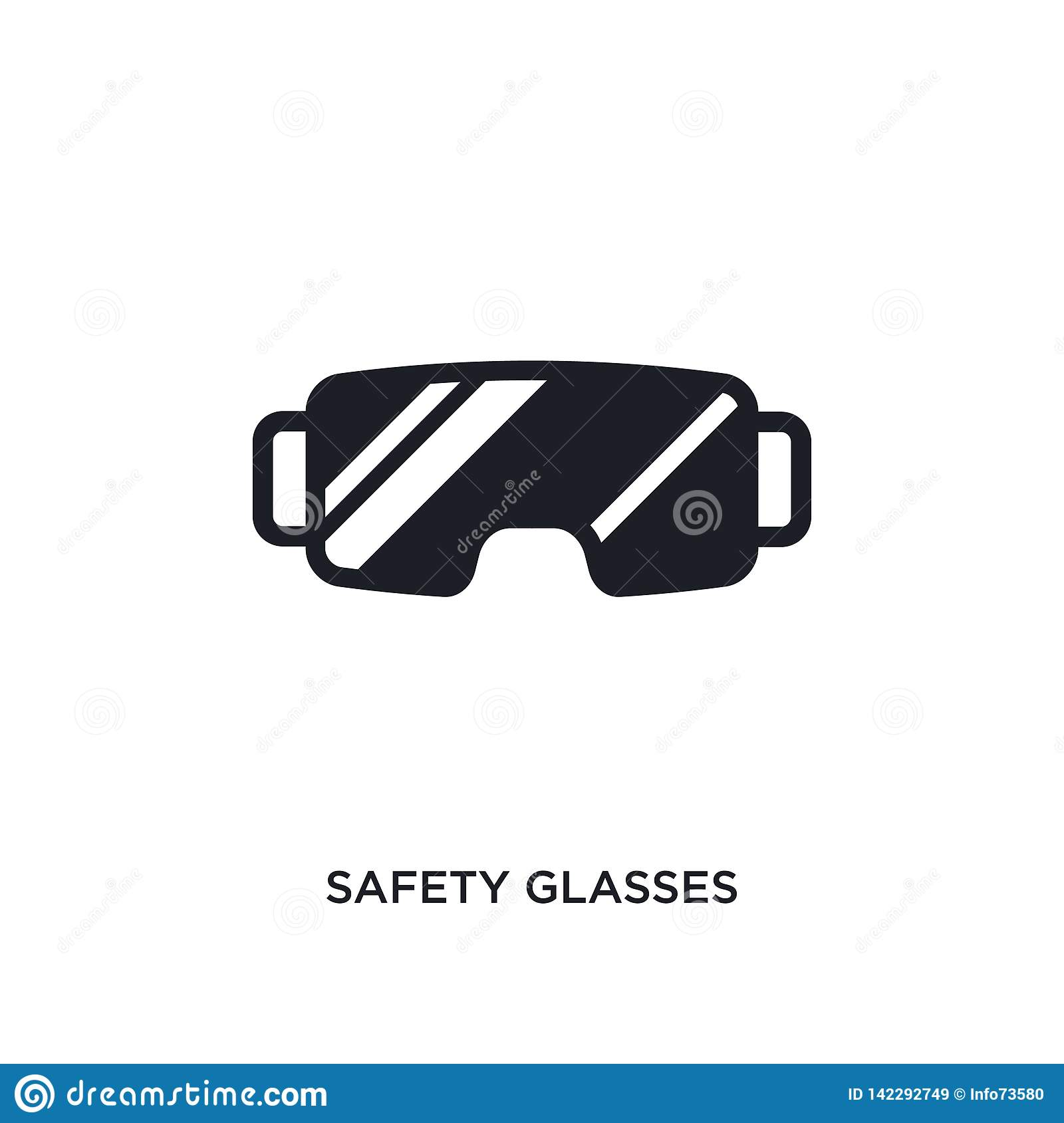 safety glasses isolated icon. simple element illustration from winter concept icons. safety glasses editable logo sign symbol