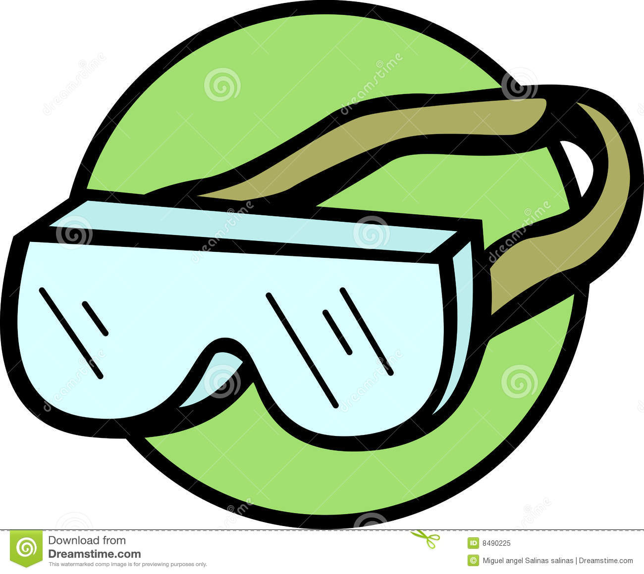 Seaside (OR) United States  City new picture : Safety Goggles With Strap Vector Illustration Royalty Free Stock Photo ...