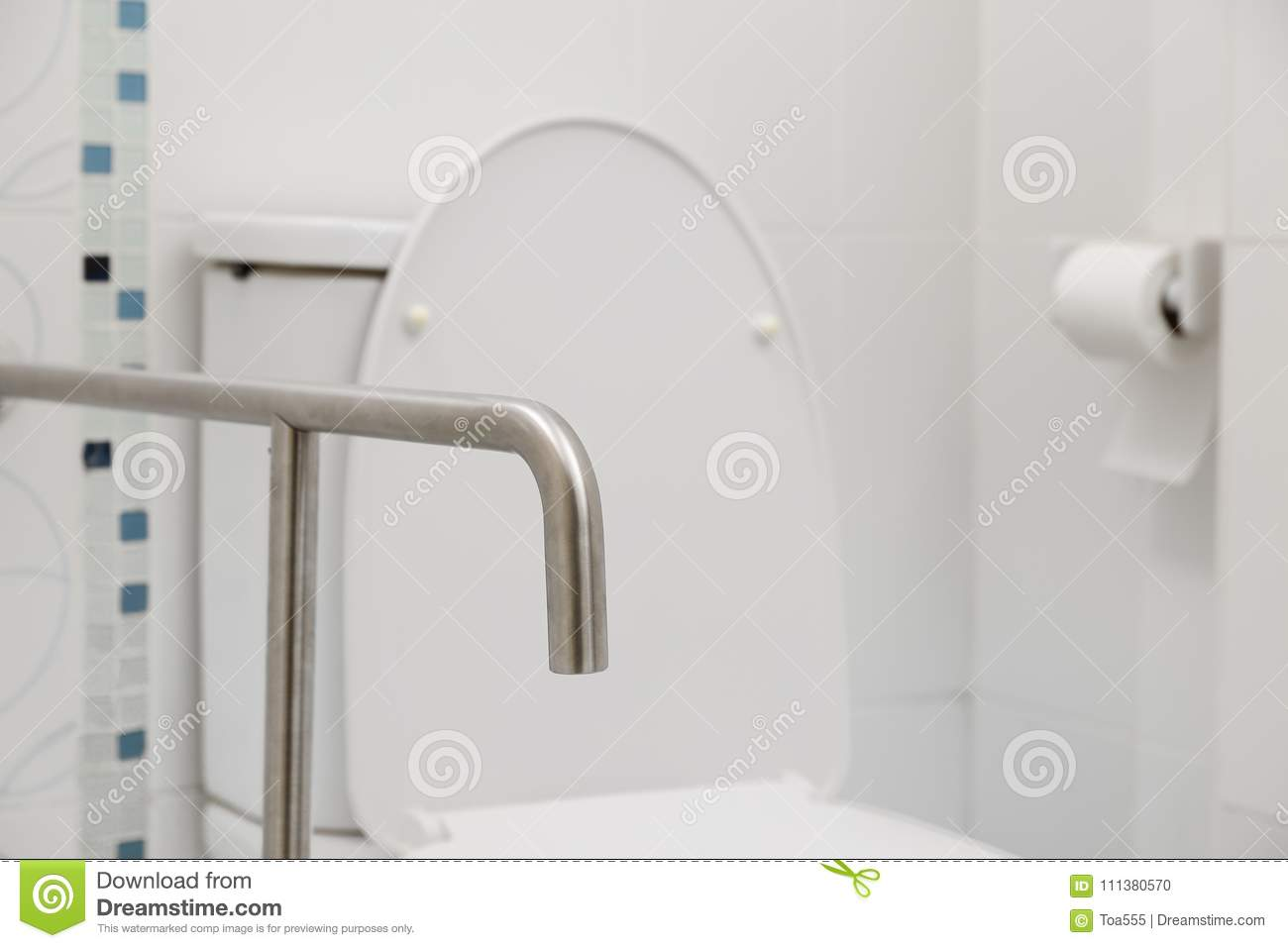 Safety And Grab Hand Rails For Toilets Stock Photo - Image of ...