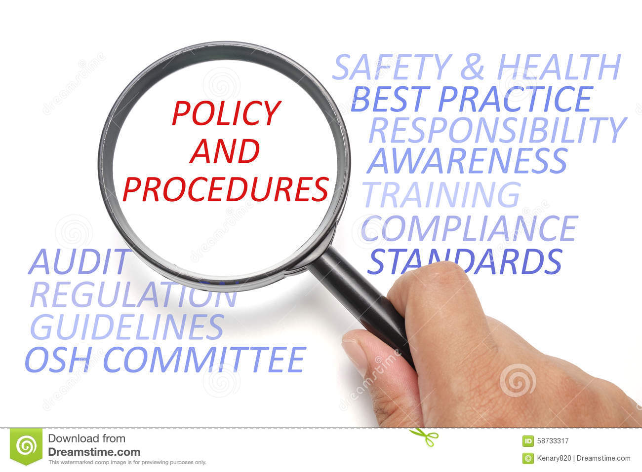royalty free illustration download safety and health at workplace conceptual focus on policy