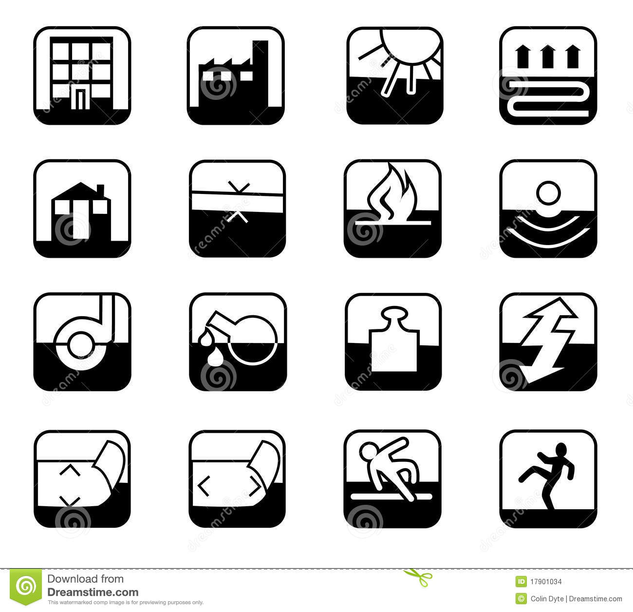 Safety Icons Stock Images - Image: 17901034