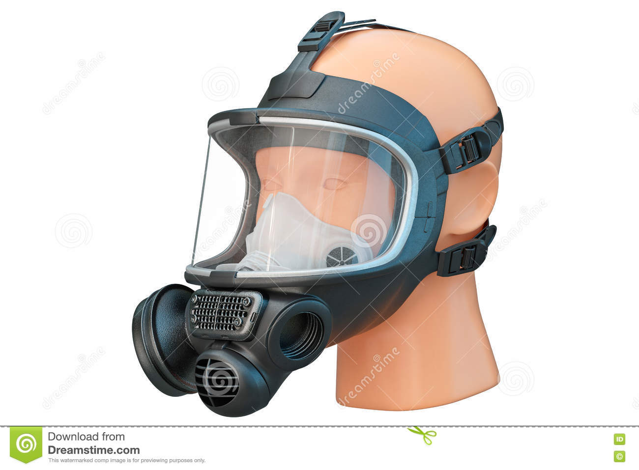 Mask Illustration Of Safety Illustration Protection Stock