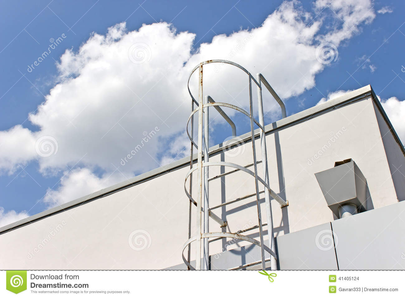 Safety Metal Ladder To The Roof Stock Photo Image 41405124