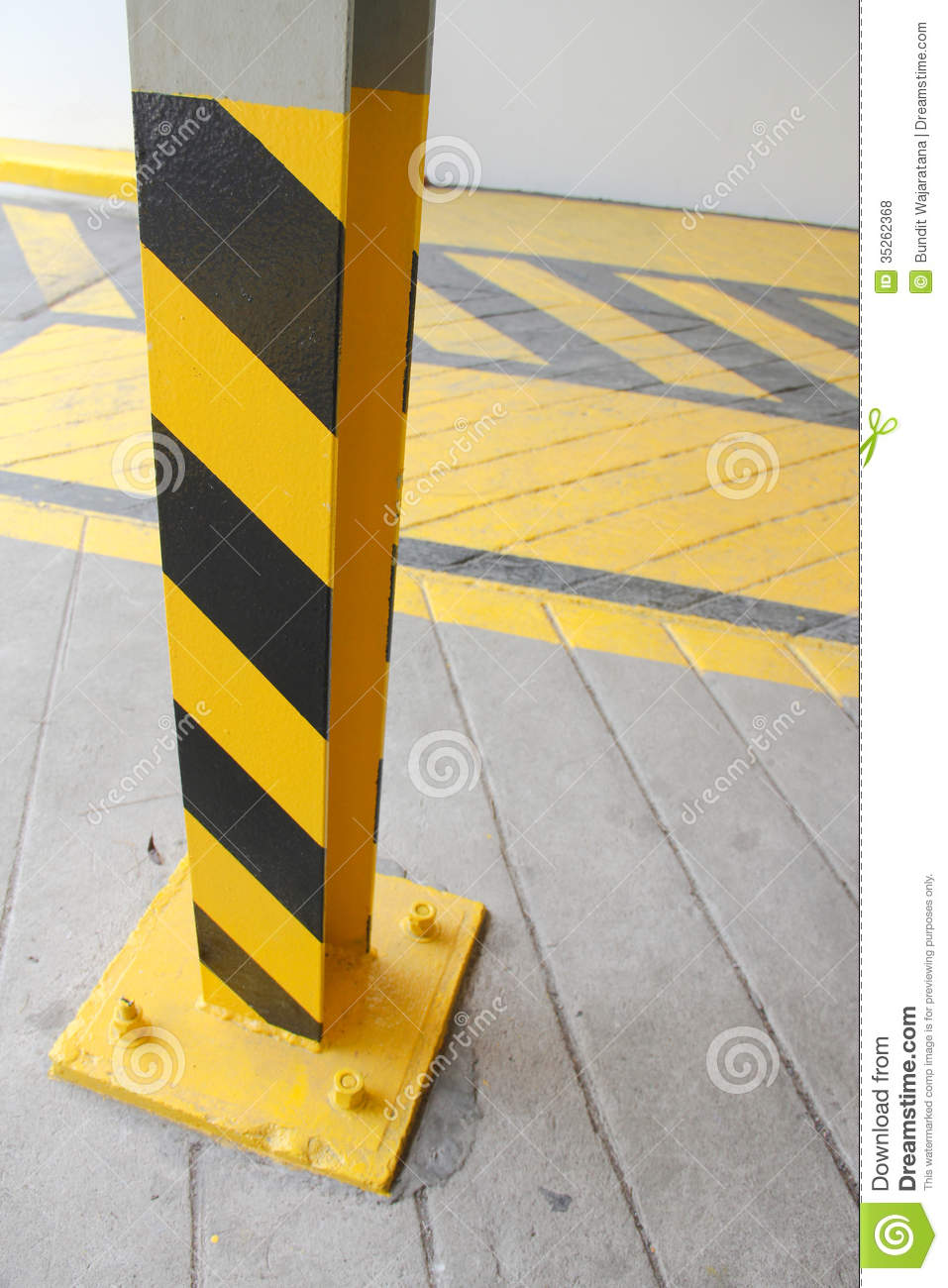 safety pillar royalty free stock photos