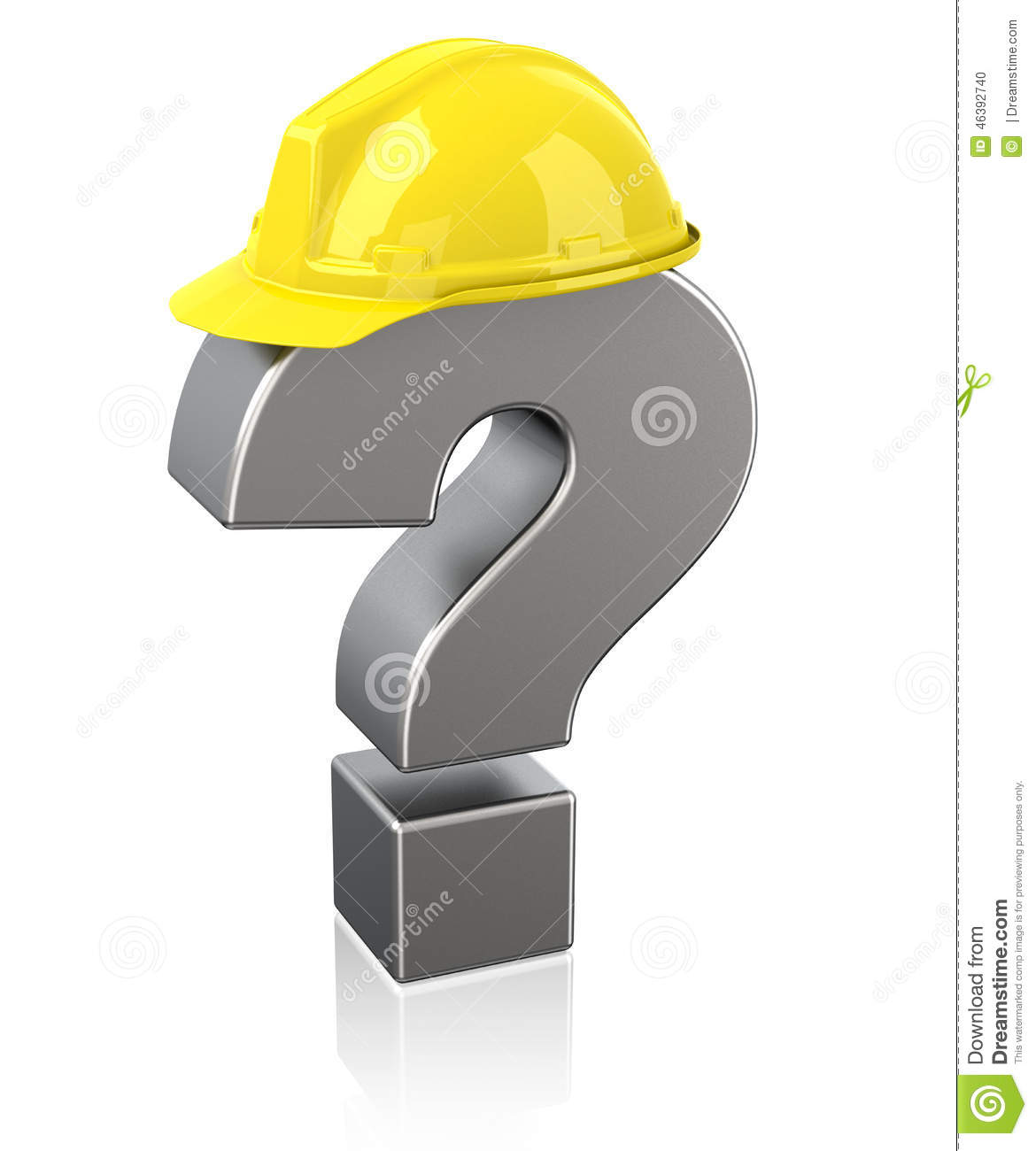 Safety questions stock illustration illustration of for Questions to ask a builder