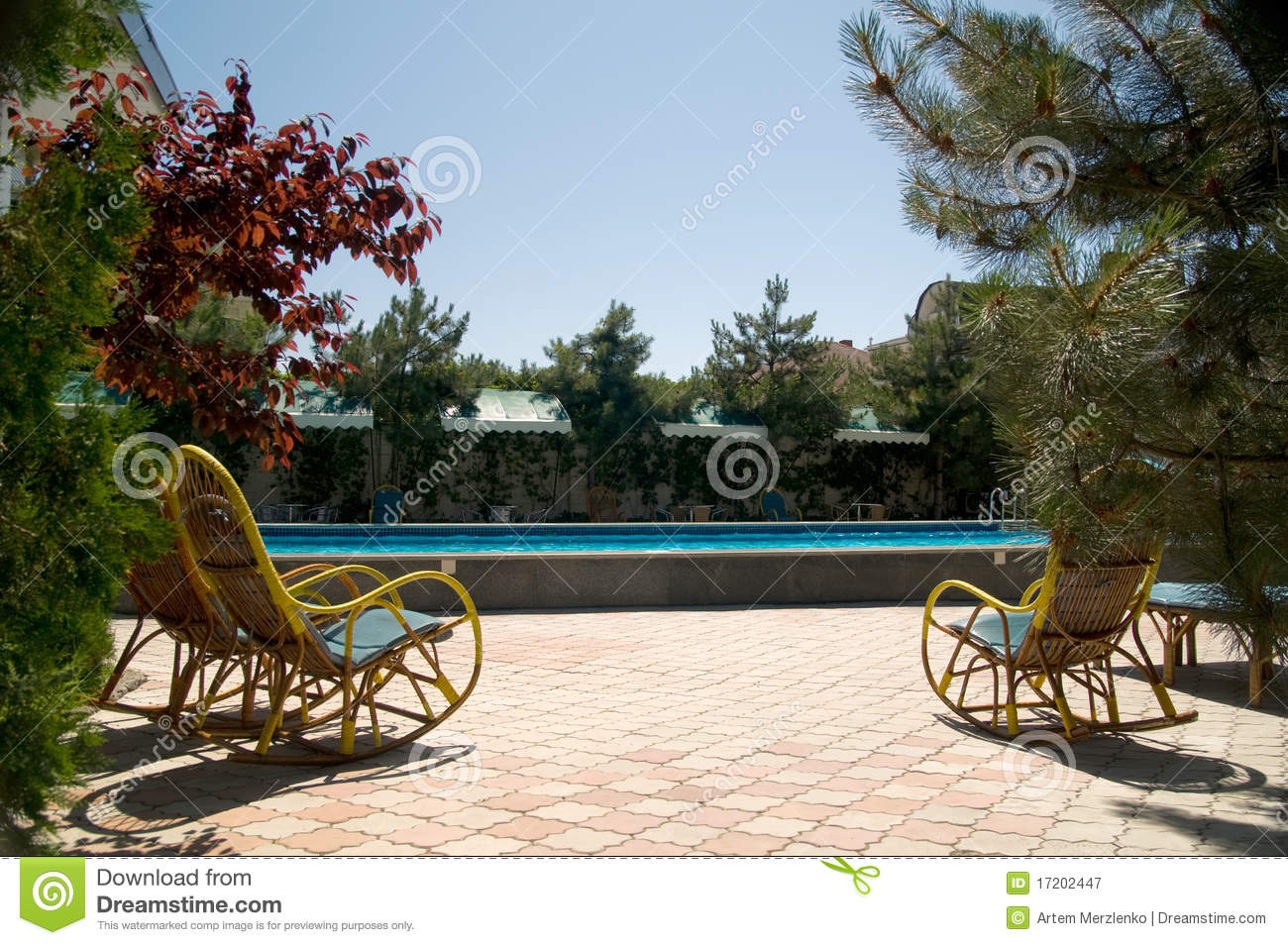 Safety rails by a swimming pool royalty free stock photography image 17202447 Where can i buy a swimming pool near me