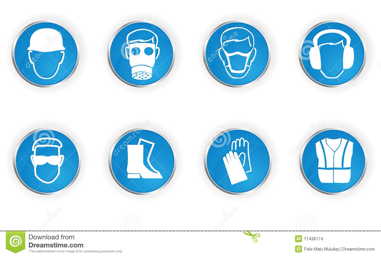 Safety symbols stock vector illustration of industry 11436174 safety symbols biocorpaavc Image collections